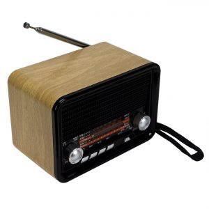 NNS NS-1538BT Şarjlı Radyo Retro Ahşap MP3 Çalar 14 Cm Nostalji Radyo