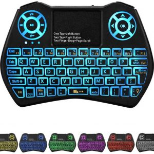 Backlit Mini Keyboard Touchpad Mouse,I9 Mini Wireless Keyboard with Touchpad and Multimedia Keys for Android TV Box Smart TV Tablet Linux Windows OS